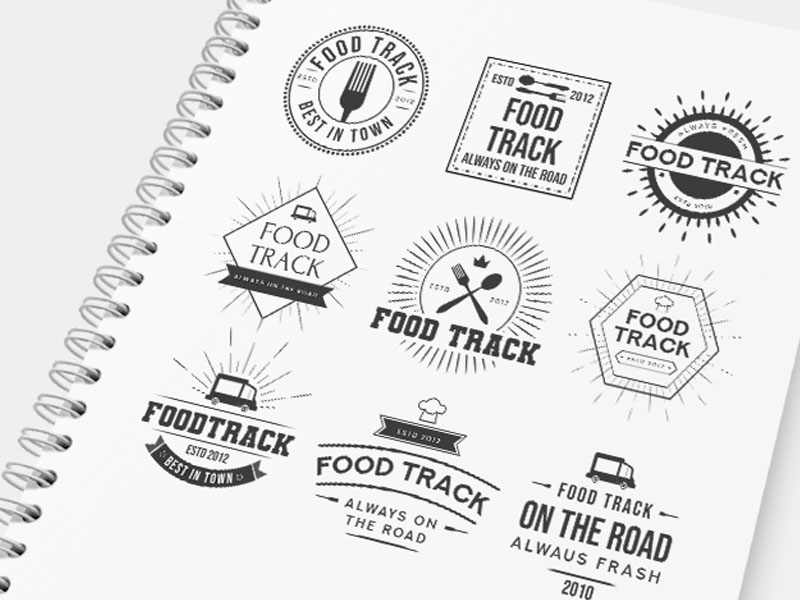 food track logo template