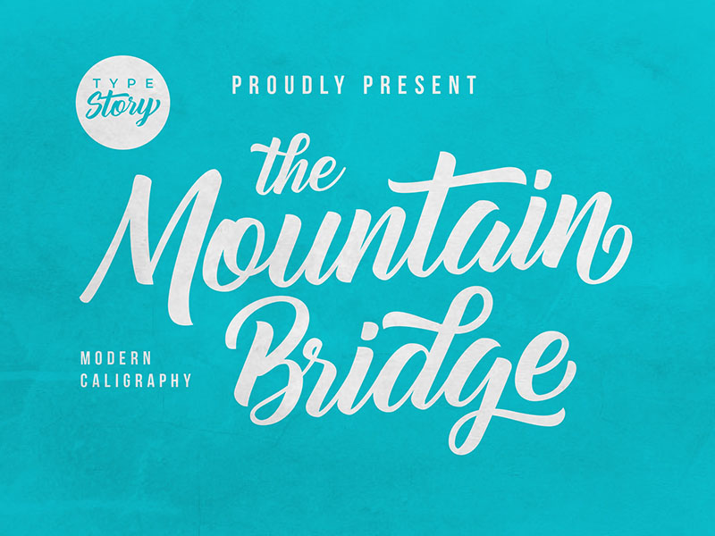 Mountain Bridge Calligraphy Font