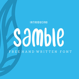Samble Playful Handwritten Font
