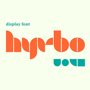 Hyrbo Display Font